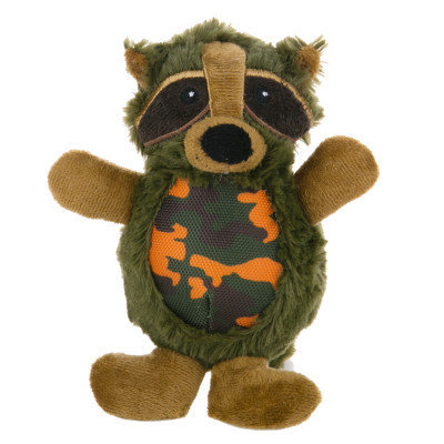 Top Pawtrade; Camo Raccoon Dog Toy - Squeaker