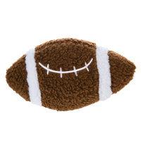 Grreat Choicetrade; Football Ball Dog Toy - Plush, Squeaker, Brown