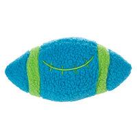 Grreat Choicetrade; Football Ball Dog Toy - Plush, Squeaker, Blue