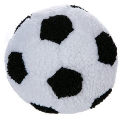 Grreat Choicetrade; Soccer Ball Dog Toy - Plush, Squeaker, White