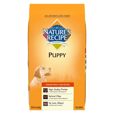 Nature's Recipe Puppy Food - Natural, Chicken Meal Rice
