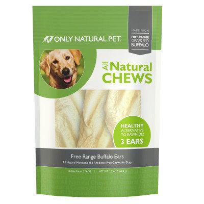 Only Natural Pet Free Range Buffalo Ears Dog Treat