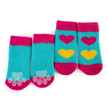 Grreat Choicetrade; Heart Socks, Blue