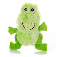 Top Pawtrade; Flattie Swirl Frog Dog Toy - Stuffing-Free, Crinkle