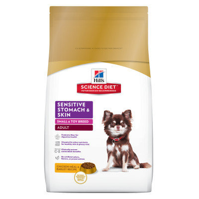 Hill's Science Diet Sensitive Stomach Skin Small Breed Adult Dog Food - Chicken Meal Barley