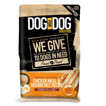 Dog For Dog DogsFood - Natural, Chicken Meal Brown Rice