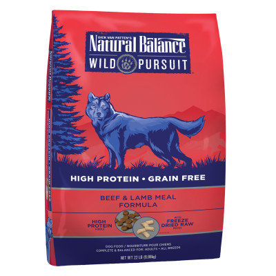 Natural Balance Wild Pursuit Dog Food - High Protein, Grain Free, Beef Lamb Meal