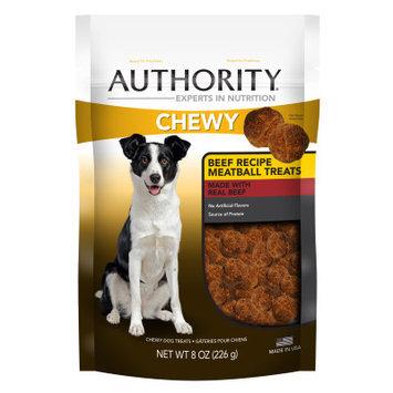 Authority Chewy Dog Treat - Beef Meatball