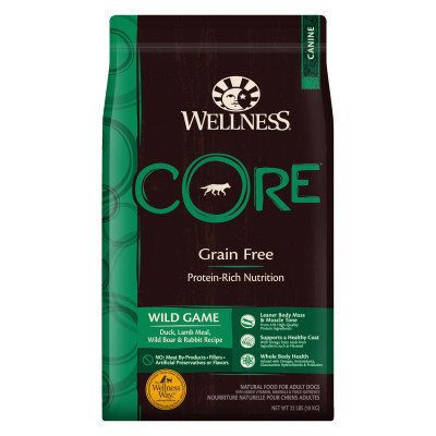 Wellness Core Adult Dog Food - Natural, Grain Free, Wild Game Formula