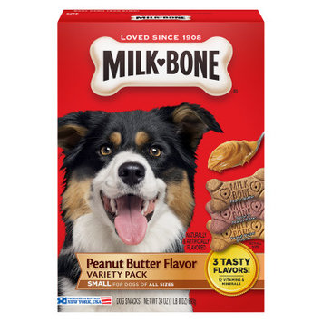 Milk Bone Milk-Bone Small Dog Treat - Variety Pack, Peanut Butter