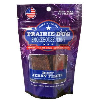 Prairie Dog Antlers Prairie Dog Smokehouse Jerky Dog Treat - Natural, Grain Free, Beef