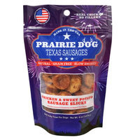 Prairie Dog Antlers Prairie Dog Texas Sausages Dog Treat - Natural, Grain Free, Chicken Sweet Potato