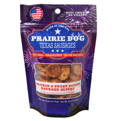 Prairie Dog Antlers Prairie Dog Texas Sausages Dog Treat - Natural, Grain Free, Chicken Sweet Potato