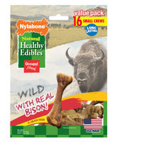 NylaboneHealthy Edibles Natural, Grain Free, Wild Bison Small Dog Treat