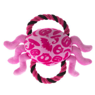 Thrills & Chills Thrills ChillsPet Halloween Spider With Rope Dog Toy