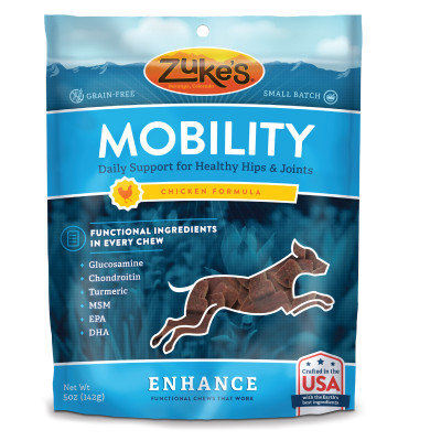 Zukes Zuke's Enhance Mobility Dog Chew - Grain Free, Hip Joint Support, Chicken