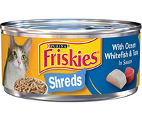 Friskies® Savory Shreds with Ocean Whitefish & Tuna in Sauce Cat Food