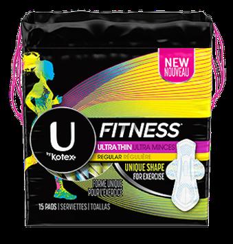 U by Kotex® Fitness* Ultra Thin Pads Regular