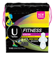 U by Kotex® Fitness* Ultra Thin Pads Regular