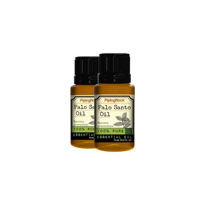 Piping Rock Palo Santo 100% Pure Essential Oil 2 Bottles x 1/2 oz (15 ml)