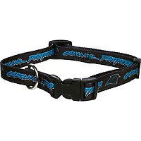 Hunter 305951 Carolina Panthers Dog Collar Nylon Small
