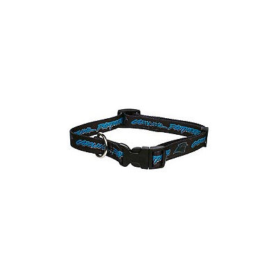 Hunter Carolina Panthers Adjustable Dog Collar Black