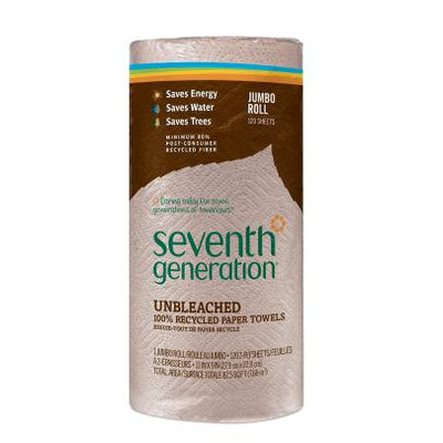 Seventh Generation Unbleached 100% Recycled Paper Towels