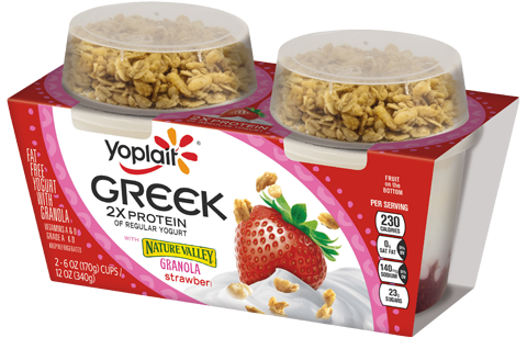 Yoplait® Greek Strawberry Yogurt With Nature Valley Granola