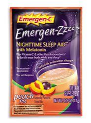 Emergen-C Emergen-Zzzz Nighttime Sleep Aid with Melatonin Peach Pm
