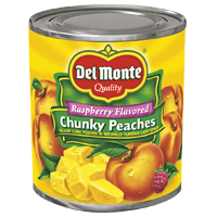 Del Monte® Raspberry Flavored Light Syrup Chunky Peaches