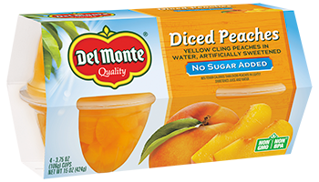 Del Monte® No Sugar Added Diced Peaches Packed in Water