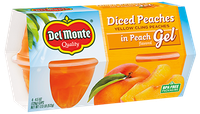 Del Monte® Diced Peaches Fruit Cups in Peach Flavored Gel