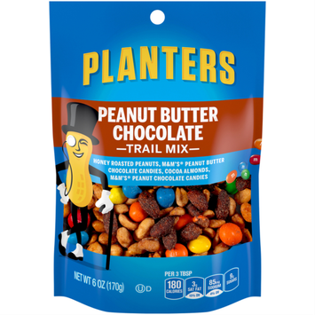 Planters Trail Mix Peanut Butter Chocolate Bag