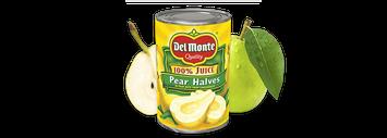 Del Monte® Pear Halves in 100% Juice
