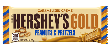 Hershey's Gold Peanuts & Pretzels In Caramelized Creme