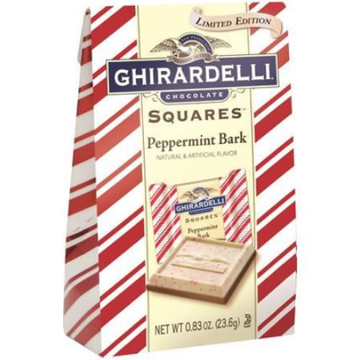 Ghiradelli Limited Edition Peppermint Bark Dark Chocolate Squares