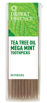 Desert Essence Tea Tree Oil Megamint Toothpicks