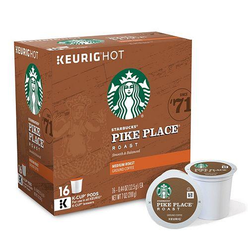 Starbucks Coffee Pike Place Roast K-Cups
