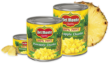 Del Monte® Pineapple Chunks in 100% Juice