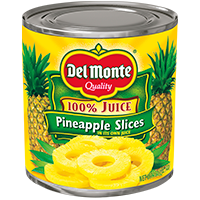 Del Monte® Pineapple Slices in 100% Pineapple Juice