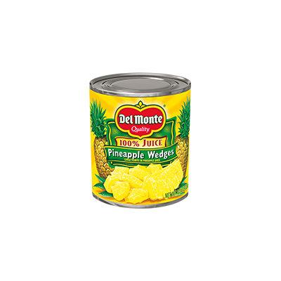 Del Monte® Pineapple Wedges in 100% Pineapple Juice