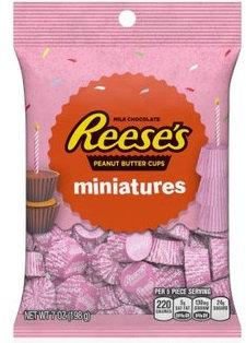 Hershey's Reese's Milk Chocolate Miniatures Pink