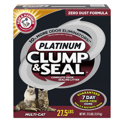 ARM & HAMMER™ Clump & Seal™ Platinum Multi-Cat Complete Odor Sealing Litter