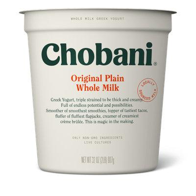 Chobani® Plain Whole Milk