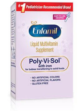 Enfamil™ Poly-Vi-Sol® with Iron Liquid Multivitamin Supplement for Transitioning to Solids