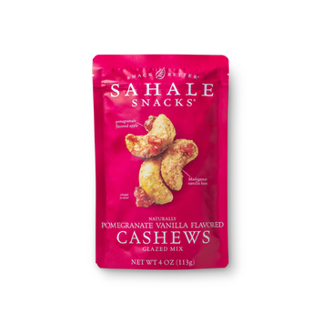 Sahale Snacks® Naturally Pomegranate Vanilla Flavored Cashews Glazed Mix