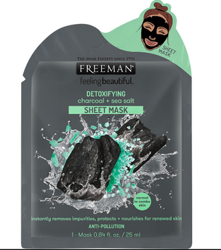 Freeman Detoxifying Charcoal & Sea Salt Sheet Mask
