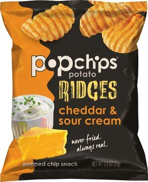 popchips® ridges cheddar & sour cream