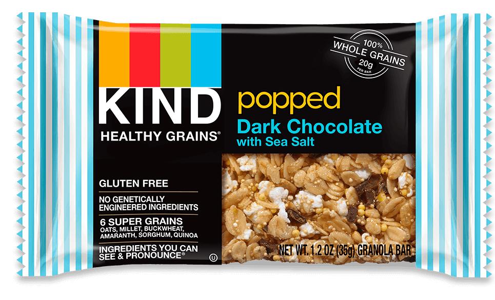 KIND® Popped Dark Chocolate With Sea Salt