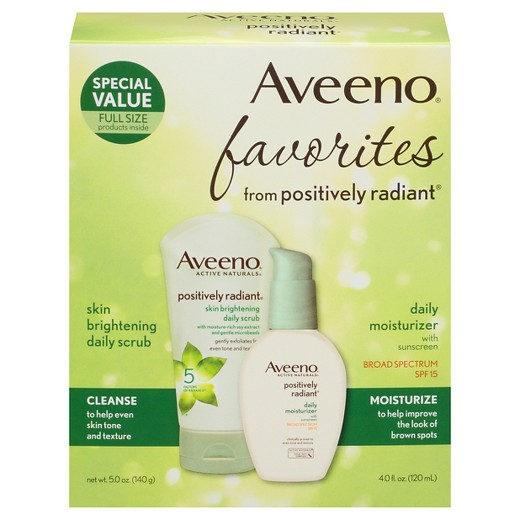 Aveeno® Positively Radiant Skin Brightening Daily Scrub & SPF 15 Daily Moisturizer with Sunscreen